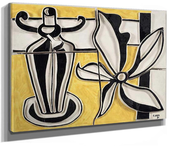Lamp And Flower The Candlestick 1951 By Fernand Leger