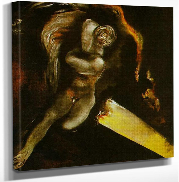 Sleeping Young Narcissus By Salvador Dali Art Reproduction from Wanford.