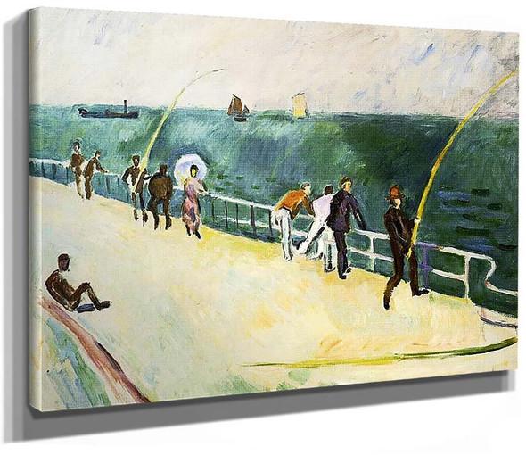 Men Fishing 1907 By Dufy Raoul