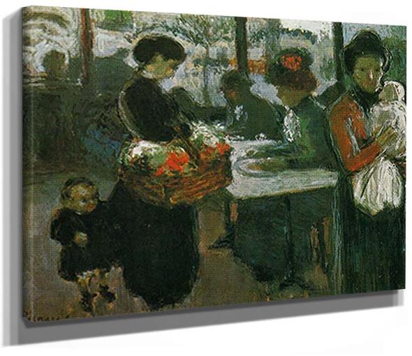 Montmartre Brasserie The Flower Vendor By Pablo Picasso