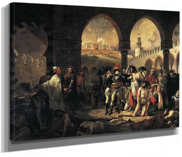 Napoleon Bonaparte Visiting The Plague Stricken At Jaffa By Gros Antoine Jean