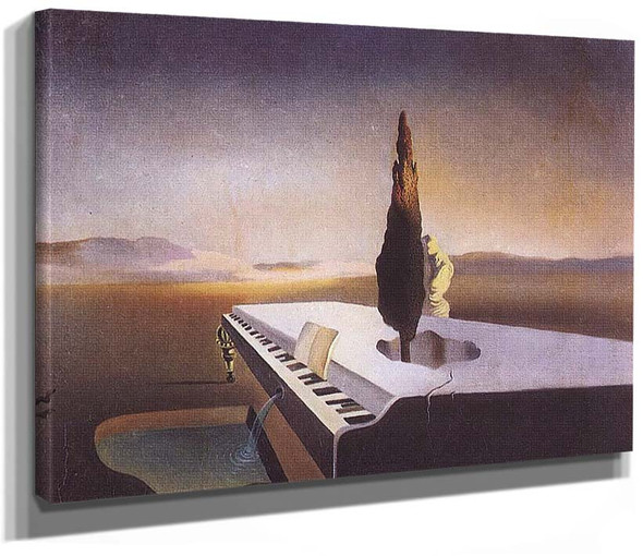 Necrophiliac Fountain Flowing From A Grand Piano 1933 By Salvador Dali