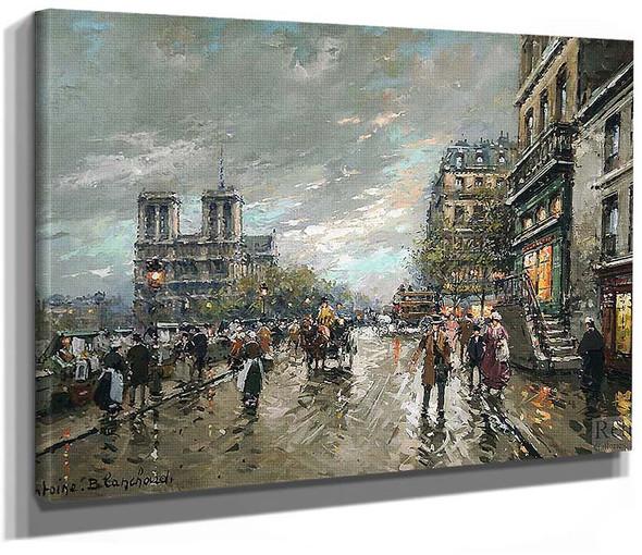 Notre Dame Quai Saint Michel 1 By Antoine Blanchard