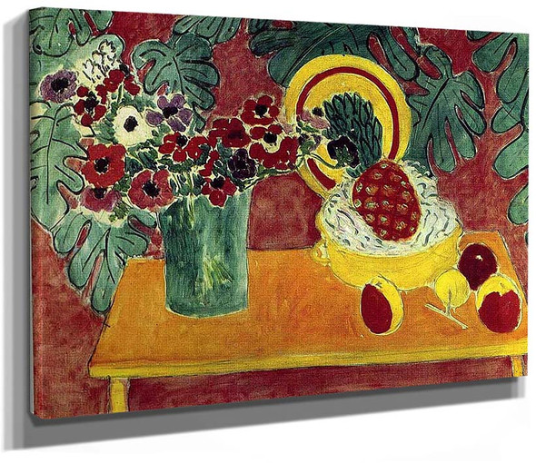 Pineapple And Anemones 1940 By Henri Matisse