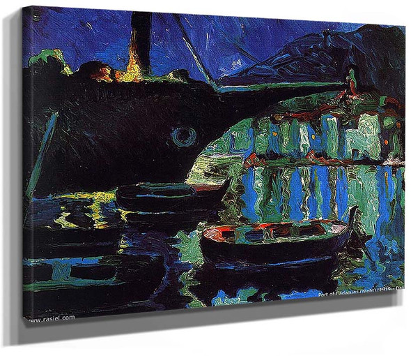 Port Of Cadaques Night By Salvador Dali