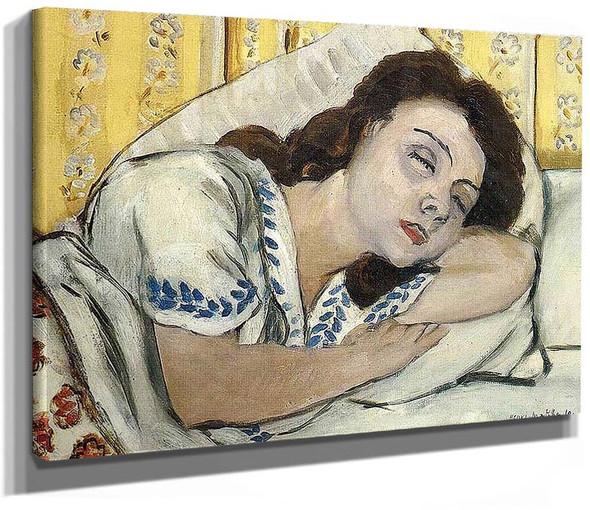 Portrait Of Margurite Sleeping By Henri Matisse