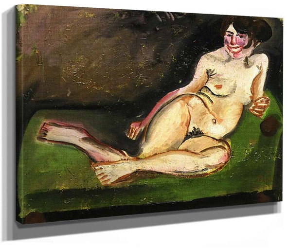 Reclining Nude By Otto Dix