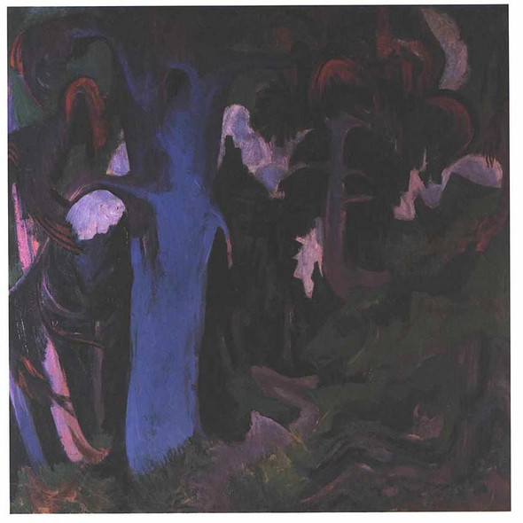 The Blue Tree By Ernst Ludwig Kirchner Art Reproduction from Wanford.