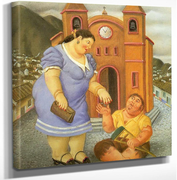The Charity by Fernando Botero Art Reproduction from Wanford.