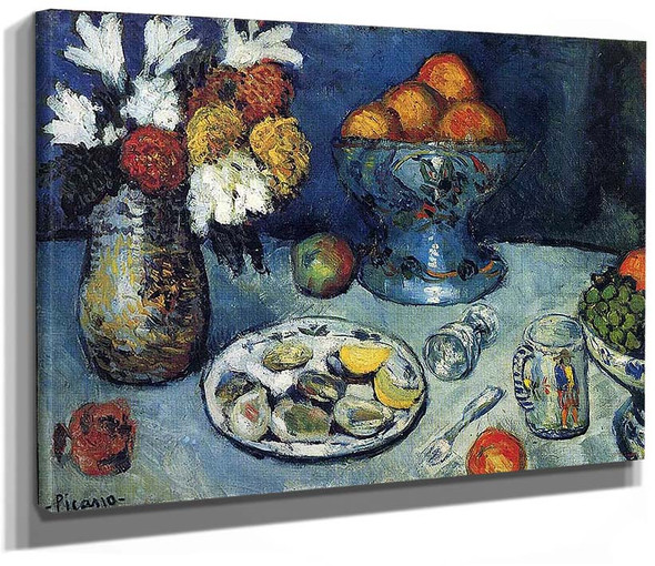 Still Life The Dessert 1901 By Pablo Picasso