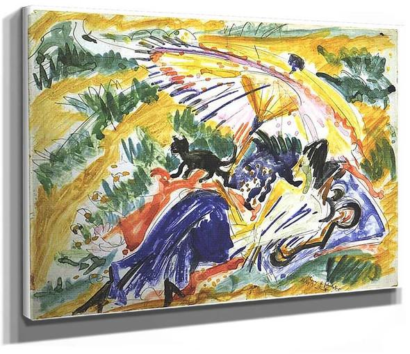 Sun Bath By Ernst Ludwig Kirchner