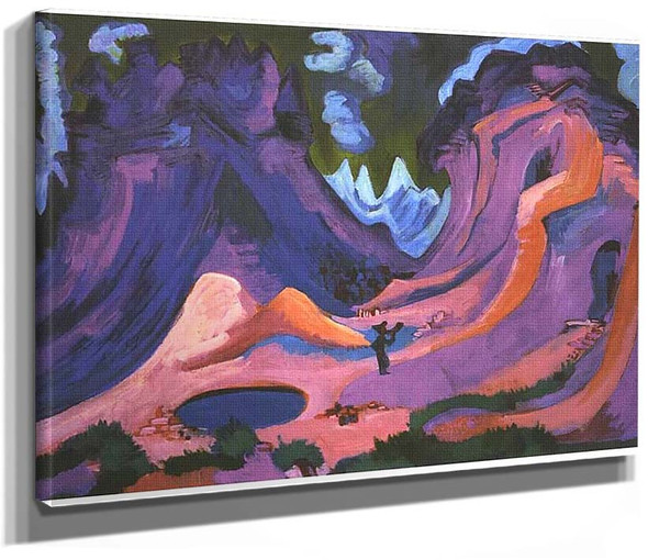 The Amselfluh By Ernst Ludwig Kirchner
