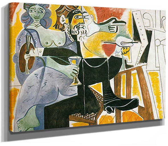 The Artist And His Model Final State By Pablo Picasso