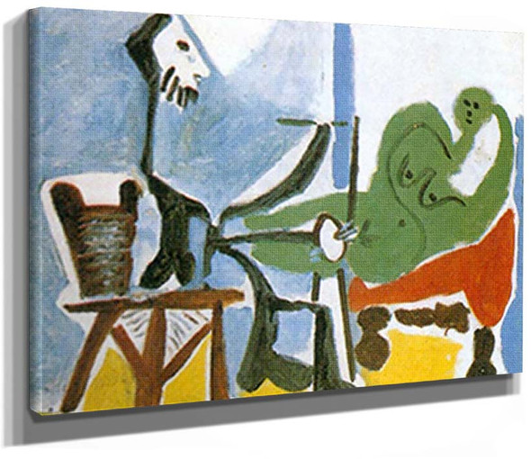 The Artist And His Model 2 By 2 By Pablo Picasso