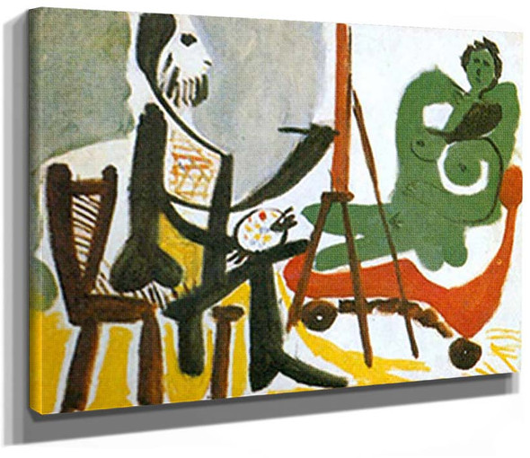 The Artist And His Model 2 By Pablo Picasso