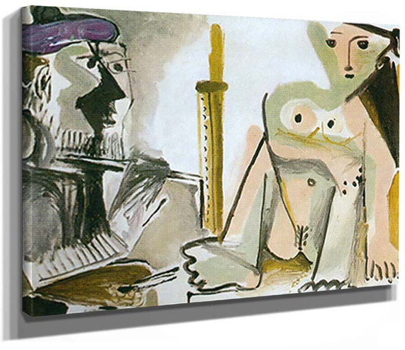 The Artist And His Model By 2 By Pablo Picasso
