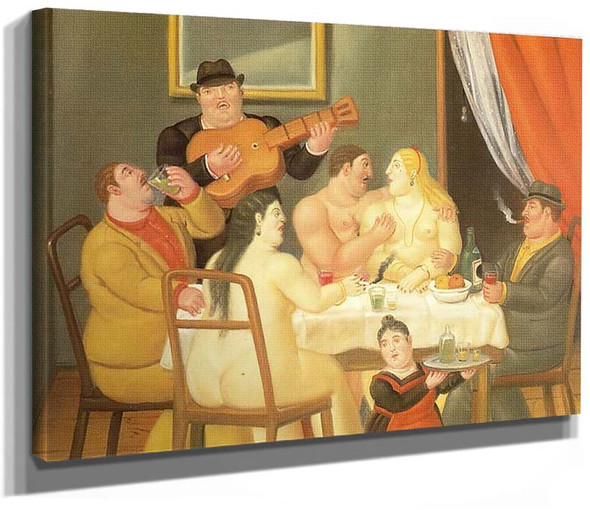The Dinner Party By Fernando Botero