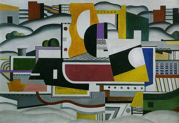 The Large Tug Boat 1923 By Fernand Leger