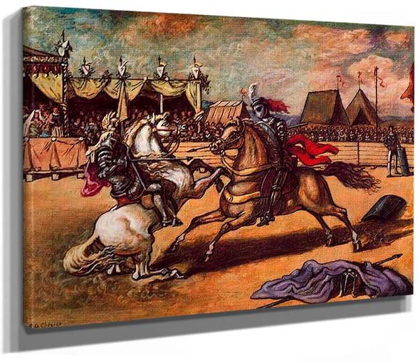 The Tournament By Giorgio De Chirico