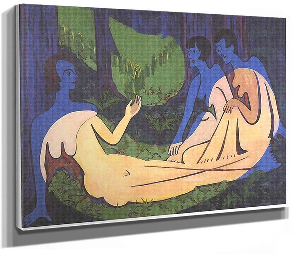 Three Nudes In The Forest 3 By Ernst Ludwig Kirchner