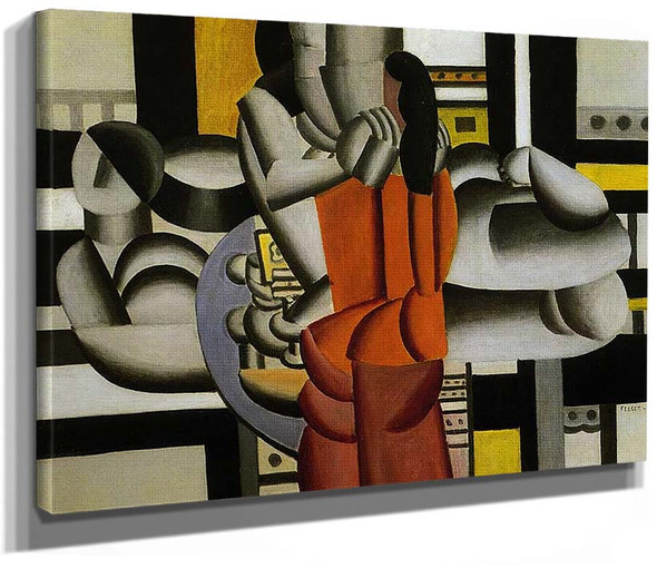 Three Women With The Still Life 1920 By Fernand Leger