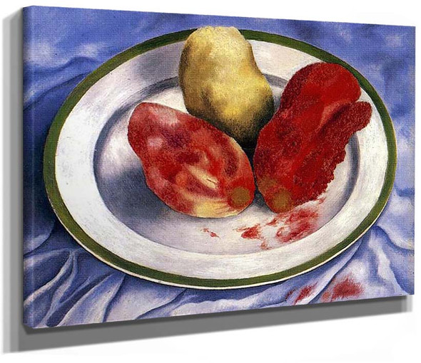 Tunas Still Life With Prickly Pear Fruit 1938 By Frida Kahlo