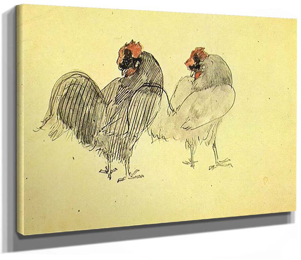Two Roosters 1905 By Pablo Picasso