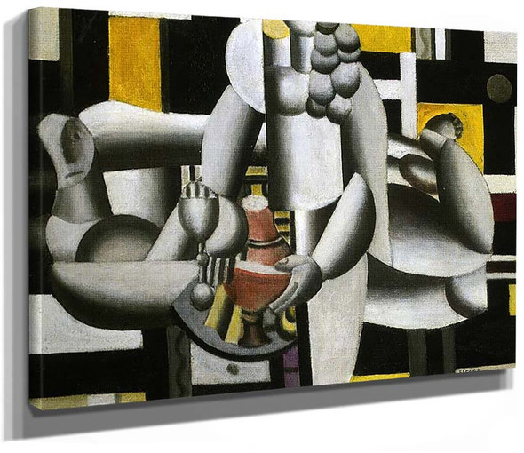 Two Women And Still Life 1St State 1920 By Fernand Leger
