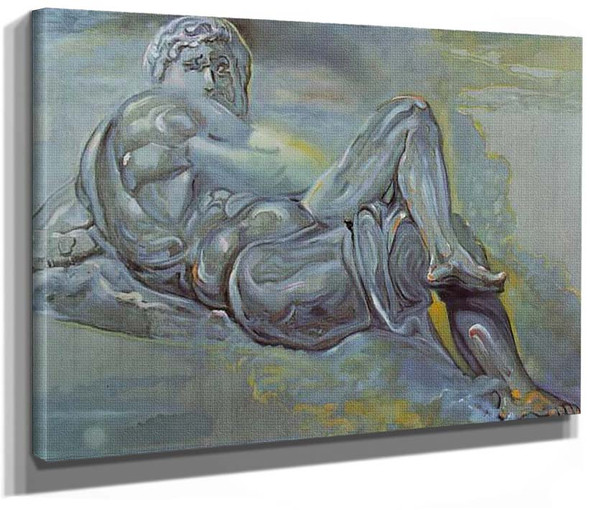 Untitled After The Day By Michelangelo By Salvador Dali