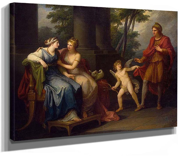 Venus Induces Helen To Fall In Love With Paris By Kauffmann Angelica