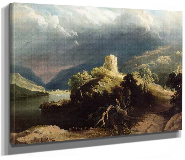 View Of Dolbadern Castle North Wales By Martin John