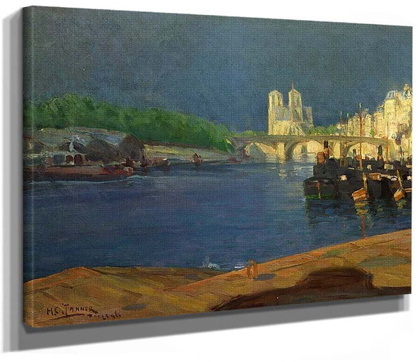 View Of The Seine Looking Toward Notre Dame By Henry Ossawa Tanner