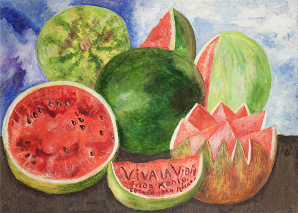 Viva La Vida Watermelons By Frida Kahlo