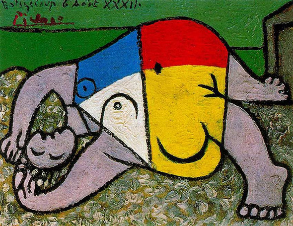 Woman On The Beach 1932 By Pablo Picasso