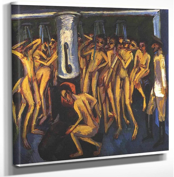The Soldier Bath By Ernst Ludwig Kirchner Art Reproduction from Wanford.