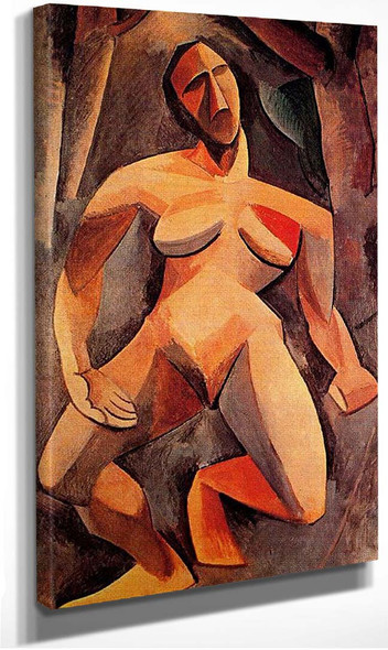 A Driade Nude In The Forest 1908 By Pablo Picasso
