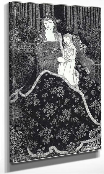 A Large Christmas Card 1895 By Aubrey Beardsley