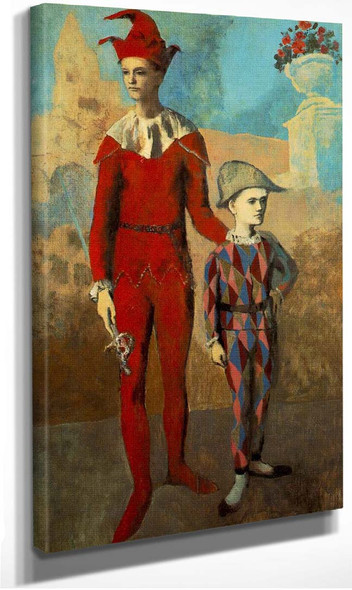 Acrobat And Young Harlequin 1905 By Pablo Picasso