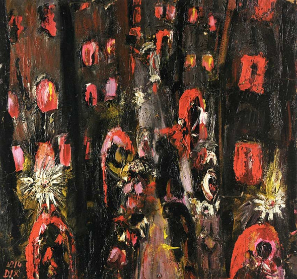 The Street Of Brothels By Otto Dix Art Reproduction from Wanford.