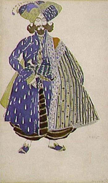 Aide De Camp Of The Shah Costume Design For Diaghilev S Production Of The Ballet Scheherazade 1910 By Leon Bakst Art Reproduction from Wanford