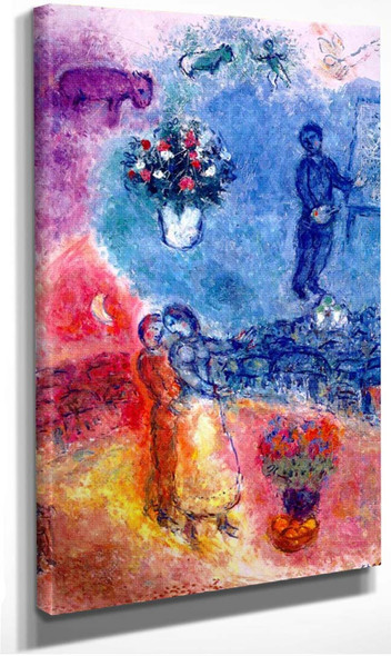 Artist By Over Vitebsk 1982 By Marc Chagall