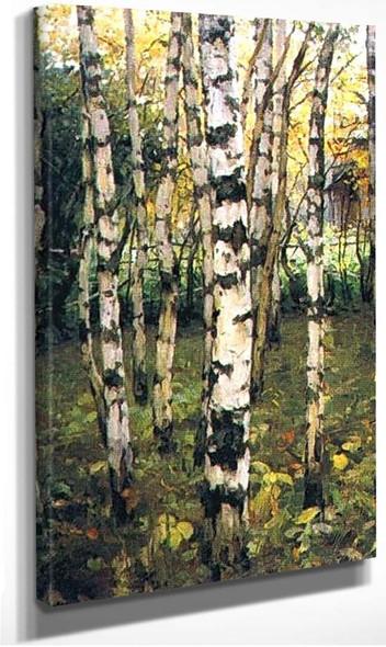 Birches Petrovskoye 1899 By Konstantin Yuon