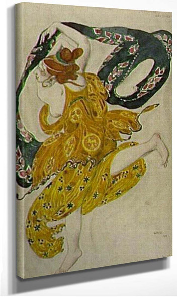 Boeotian Drawing Narcisse Costume Ballet Diaghilev 1911 By Leon Bakst