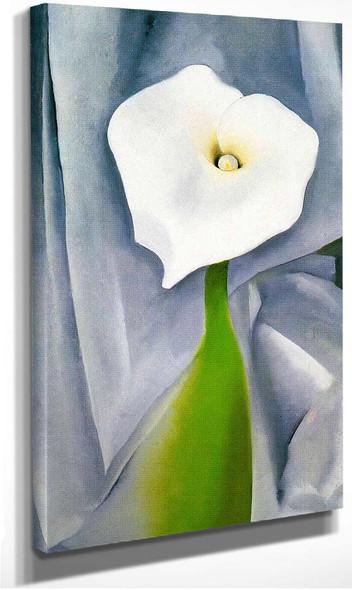 Calla Lily On Grey By Georgia O Keeffe
