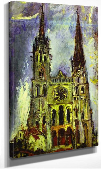 Chartres Cathedral By Chaim Soutine