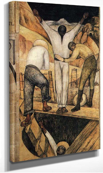 Exit From The Mine 1923 By Diego Rivera