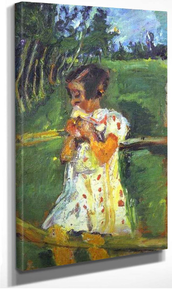 Girl At Fence By Chaim Soutine