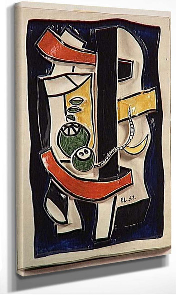 Green Fruit On A Blue Background 1952 By Fernand Leger