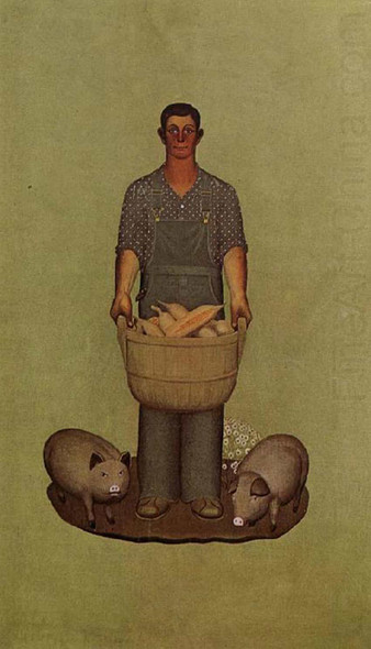 Iowa S Product 19327 By Grant Wood Art Reproduction from Wanford