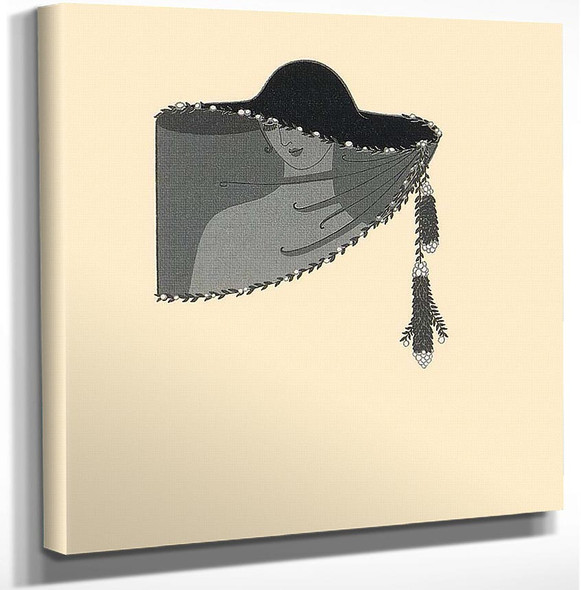 The Veil By Erte Art Reproduction from Wanford.